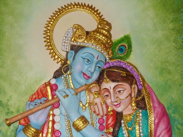 Mural art by datta vaidya september 2011 for Mural radha krishna