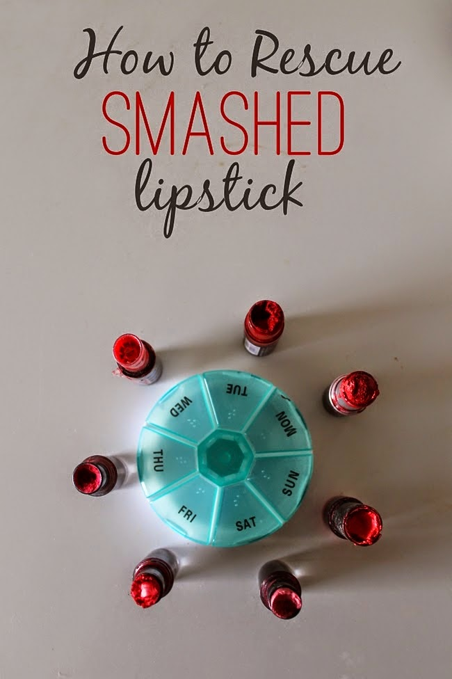 how to save smashed or worn out lipsticks