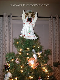 Angel on top of Christmas tree