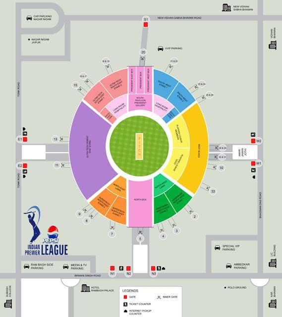 Online Tickets Booking: Rajasthan Royals at Sawai Mansingh Stadium Jaipur IPL 6 2013