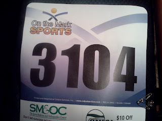 my race number, 3104