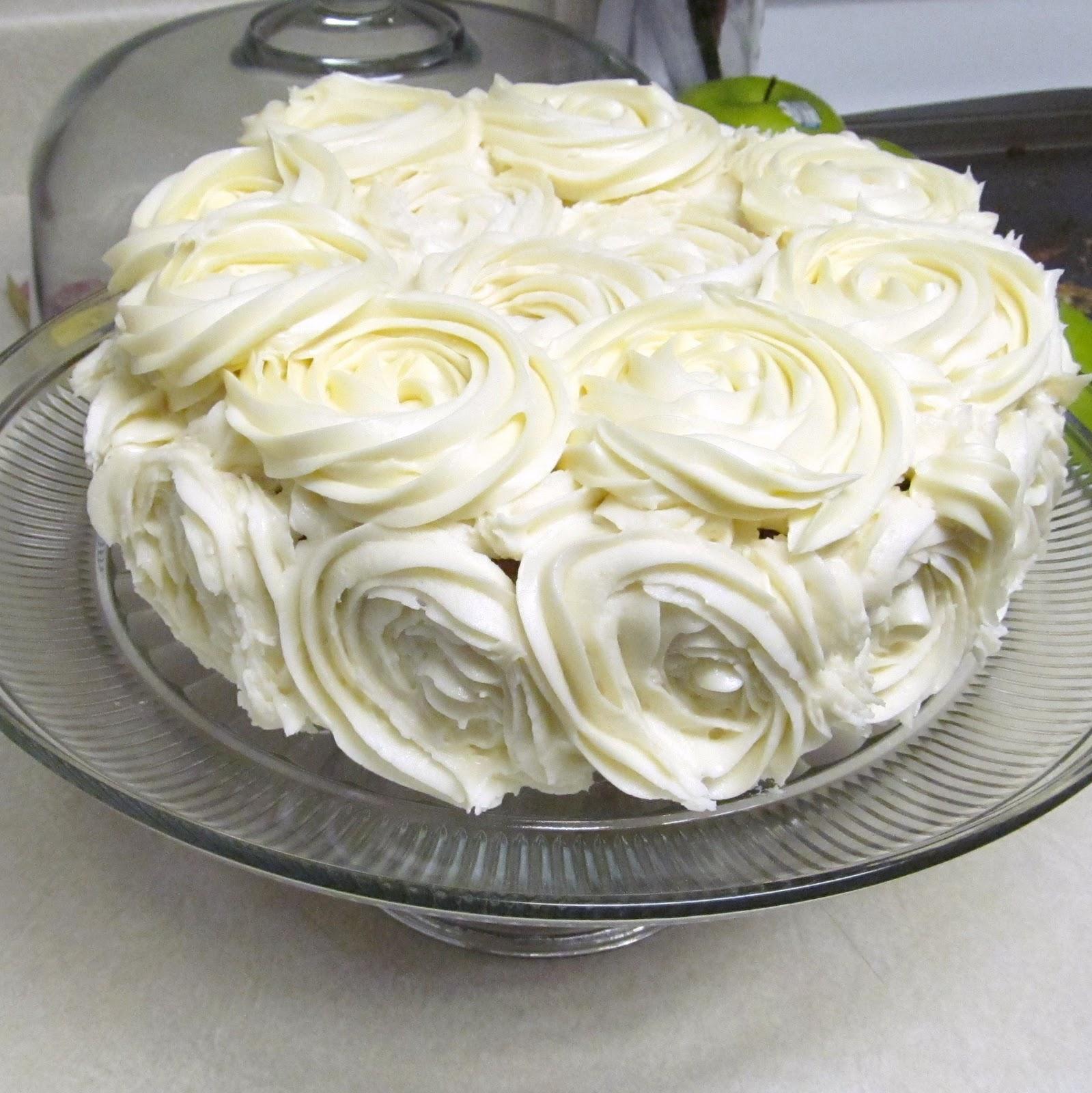 Lovely On The Inside White Rose Cake