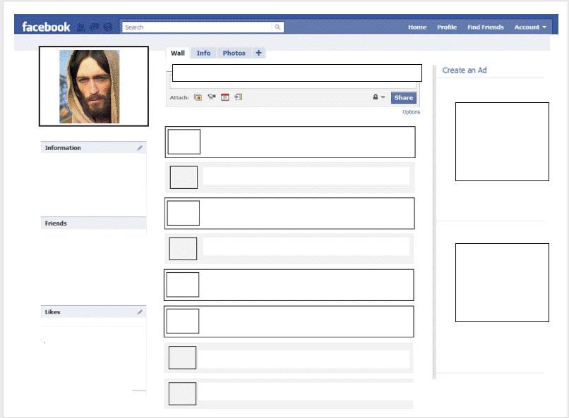 Facebook homework template