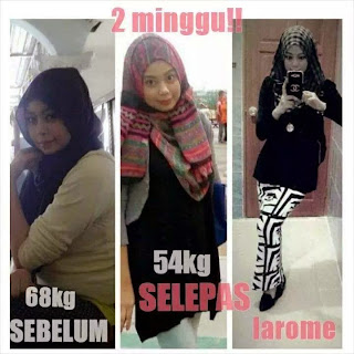 Testimoni L'arome Slimming Serum Pelangsing Ajaib