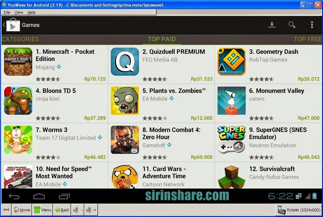 1 Mei 2012. . Install Youwave pada PC dan jangan lupa di patch; Pilih File