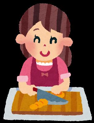 料理のイラスト「女性」