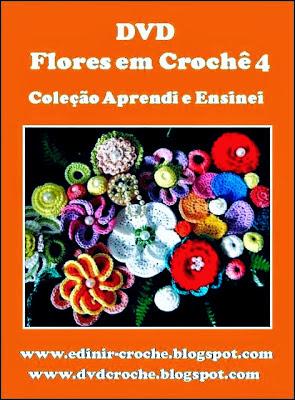 dvd flores 5 volumes na loja cursodecroche com frete grais