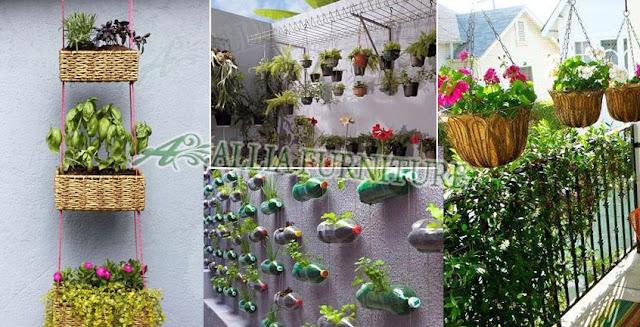Desain model pot tanaman di rumah