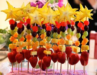 Bocaditos con Frutas para Fiestas Infantiles