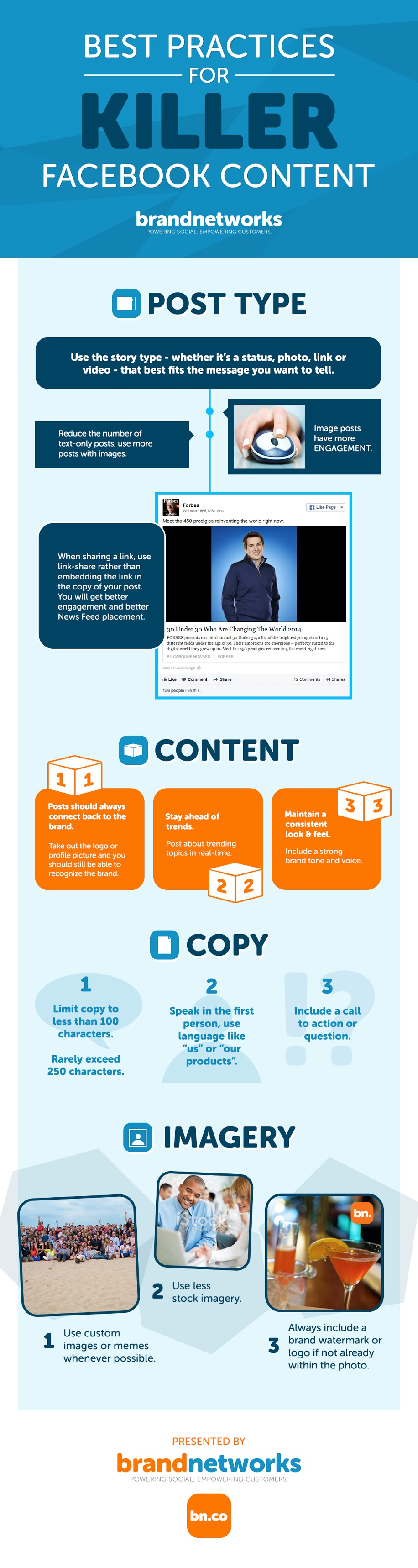 Best Practices for Killer Facebook Content - infographic