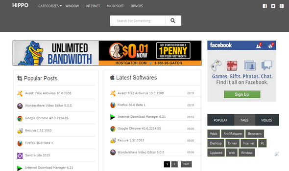 Software Download Blogger Template