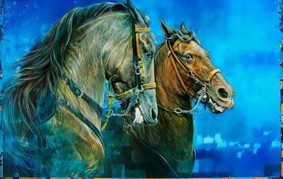 caballos-cuadros-colombianos-al-oleo