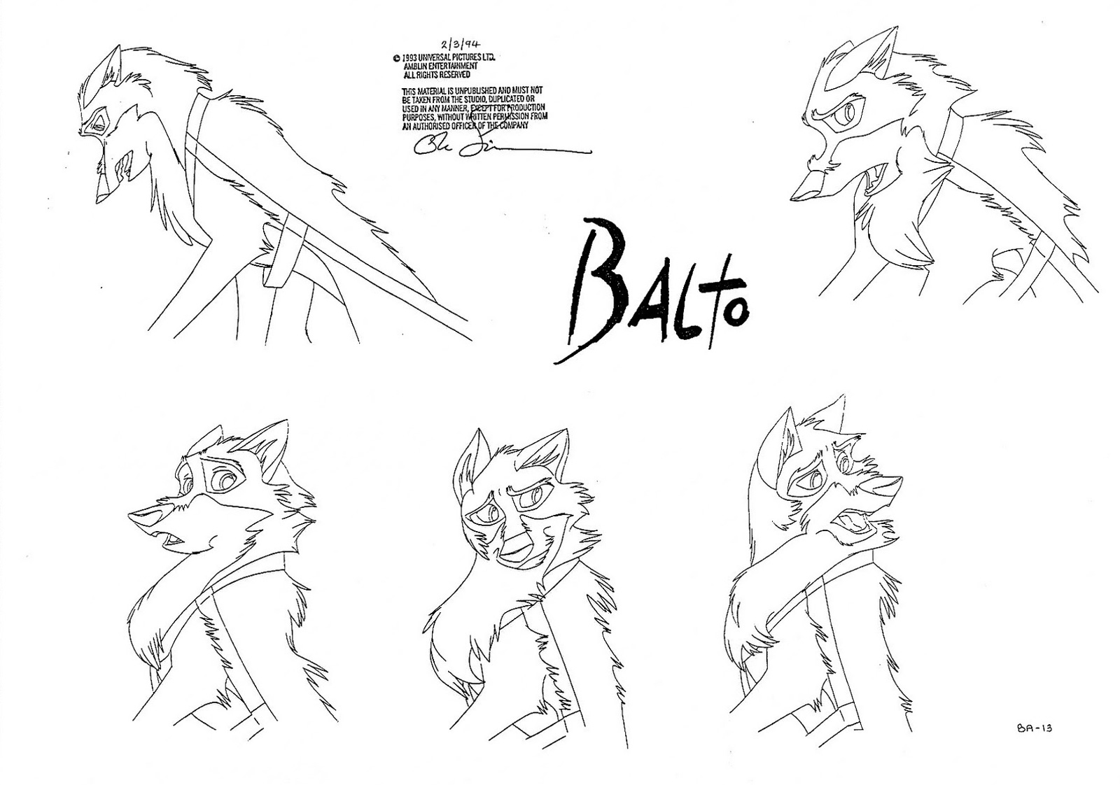 cartoon concept design character design balto part 2