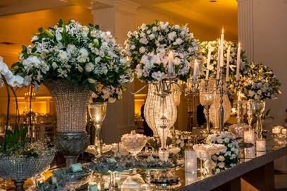 Casamento de bodas de diamante chique