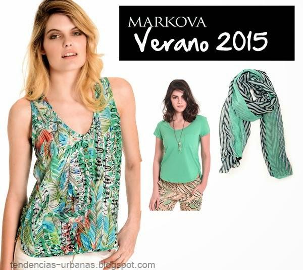 blusas de moda color verde verano 2015 Markova