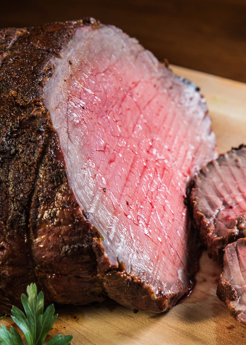 Tender, juicy, perfectly sliceable, oven roasted beef with a southwestern spice crust and plenty of flavor - recipe by Barefeet In The Kitchen
