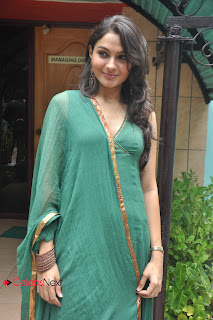 Andrea Jeremiah Pictures in Green Salwar Kameez at Puthiya Thiruppangal Audio Launch ~ Celebs Next