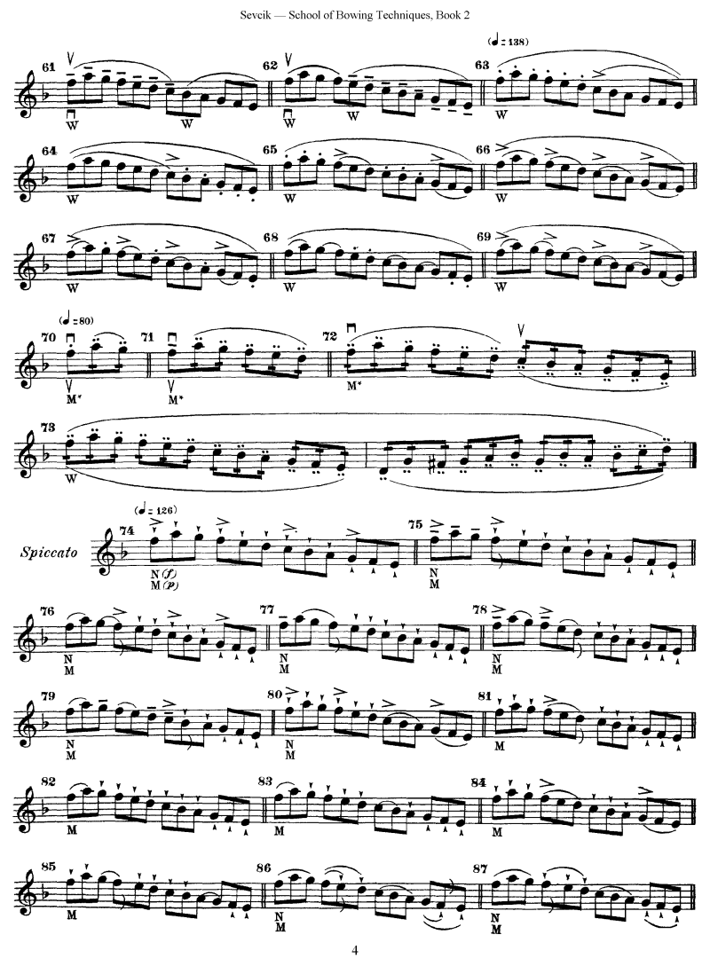 sevcik 2 school of bowing techniques op.2 book 2 | (example: themes
