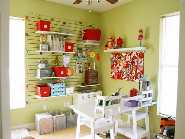 craft%2Barea5 Sewing Craft Room Ideas