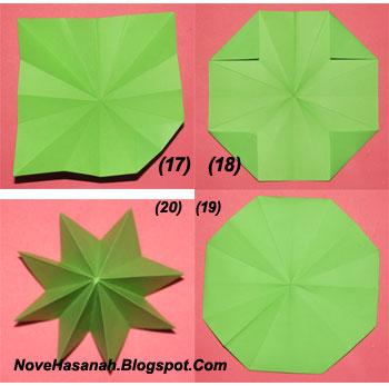 langkah-langkah cara melipat kertas origami untuk anak-anak berbentuk payung yang mudah sekali 16