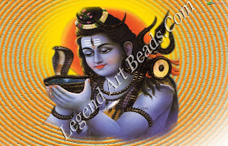 Shiva drinking the lethal poison.