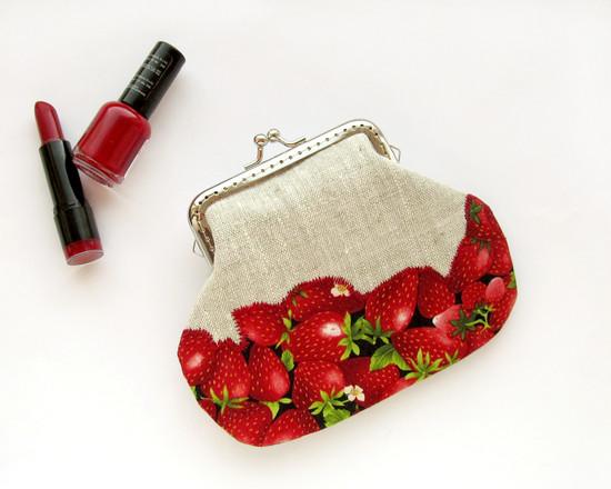 fruit wallet with clasp, ягодные кошельки