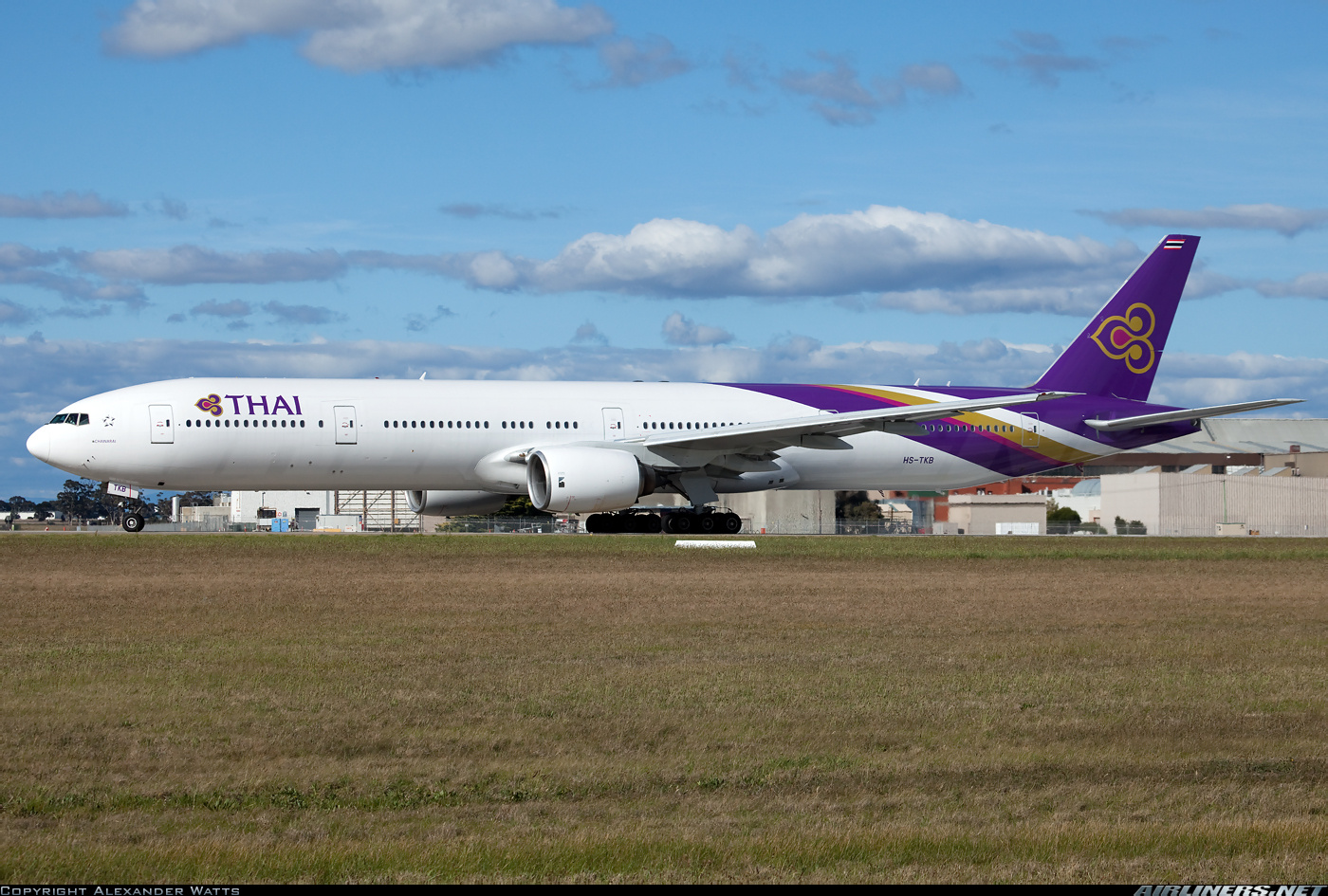 Download this Thai Airways Economy Class Melbourne Bangkok Boeing picture