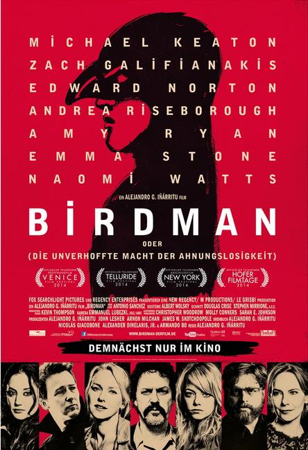 Filmtipp: Birdman (oder die unverhoffte Macht der Ahnungslosigkeit)