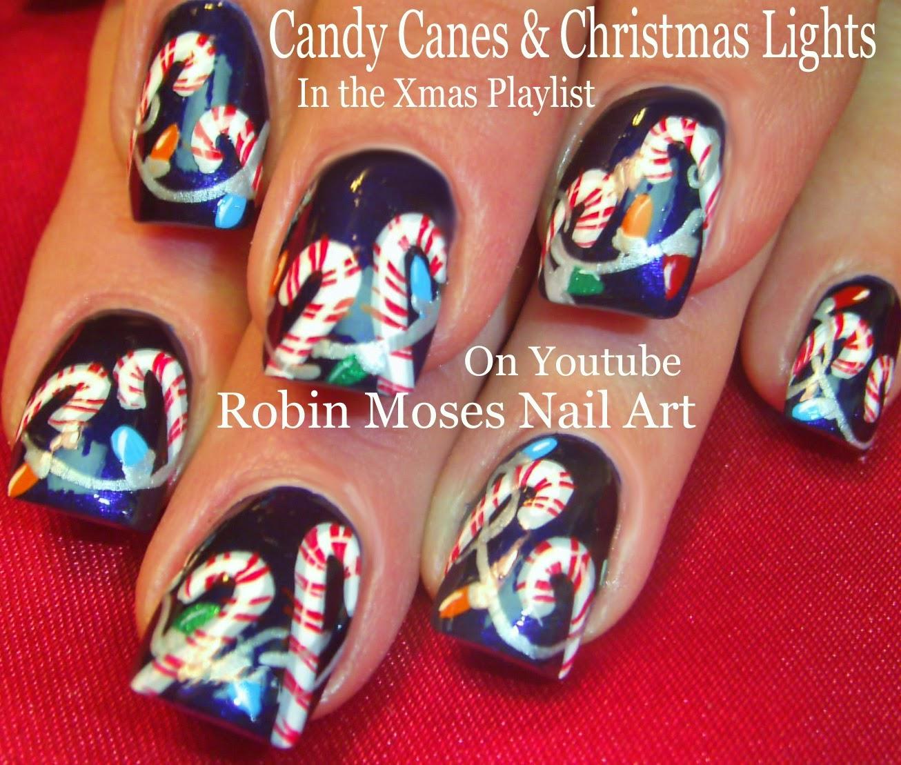 Nail Art By Robin Moses Christmas Nail Art Xmas Nail Art Candy