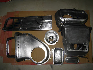 Heater parts and parcel shelf bare metal Volvo 122S