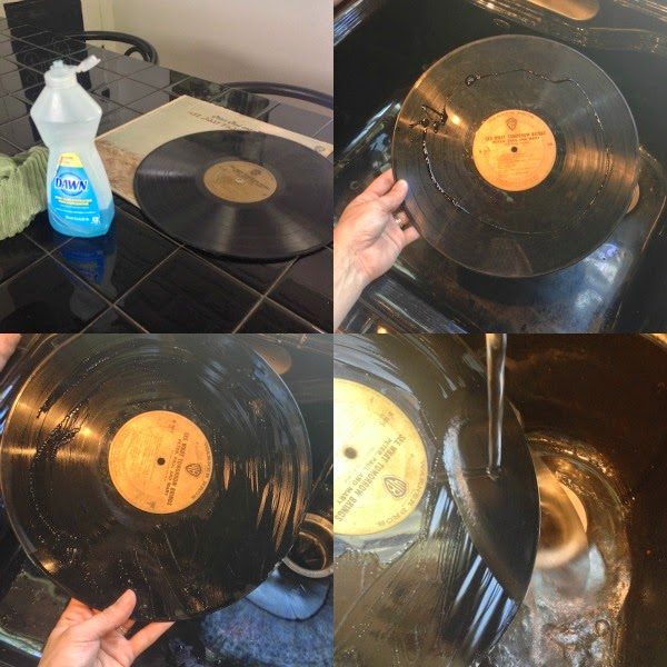 Four steps to clean vinyl records
