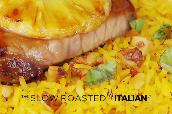 Saffron Walnut Rice Pilaf