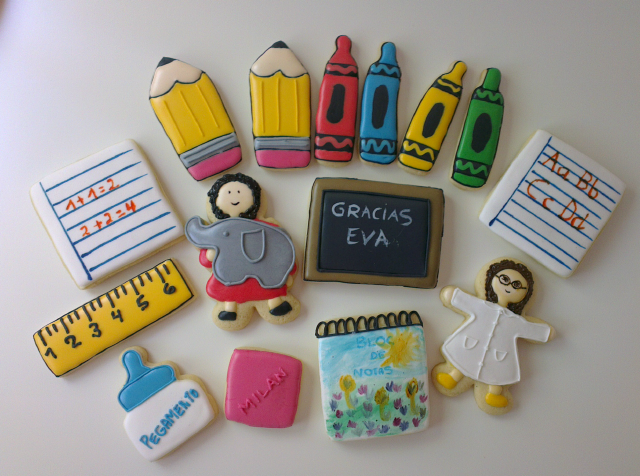 galletas decoradas colegio regalo profesora