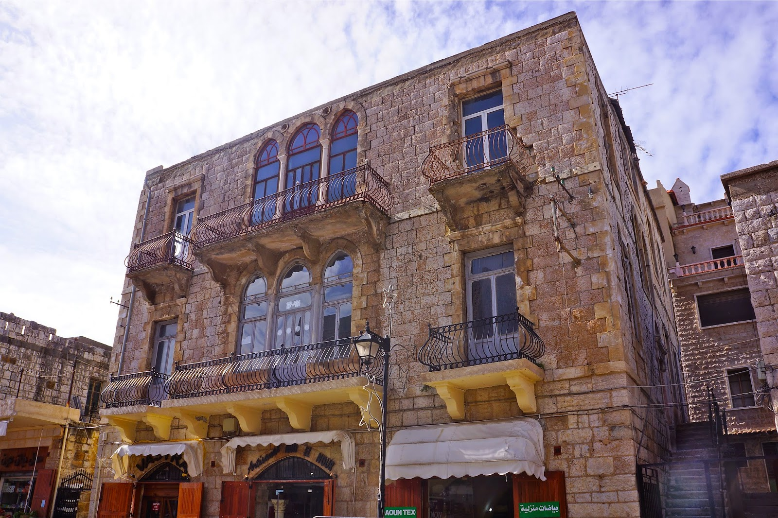 Picture of a traditional Lebanese house in Jezzine.