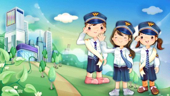 dibujo de policias
