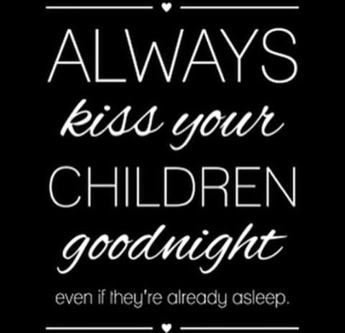 kiss children goodnight