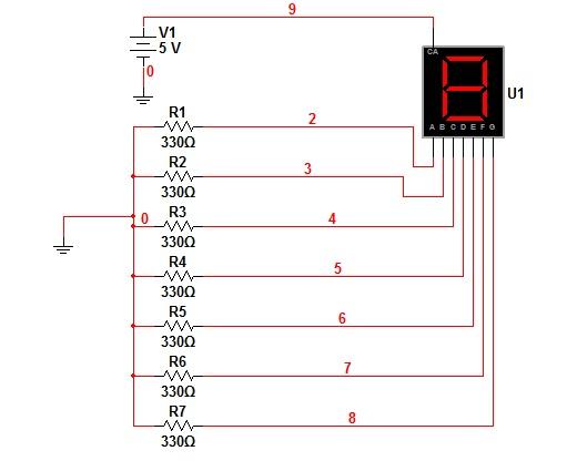 de los display muestro la estructura del decodificador 74ls48