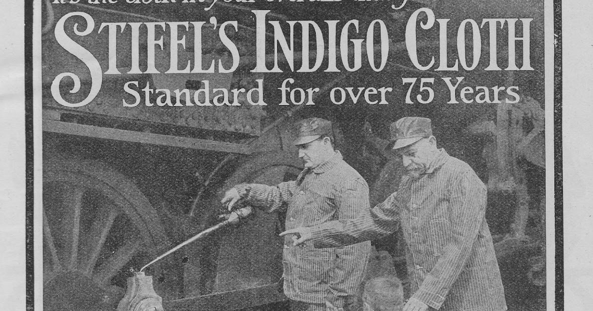vintage workwear: STIFEL INDIGO CLOTH OVERALLS