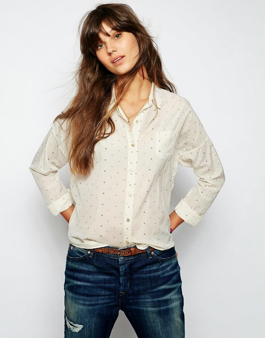 maison scotch print shirt,