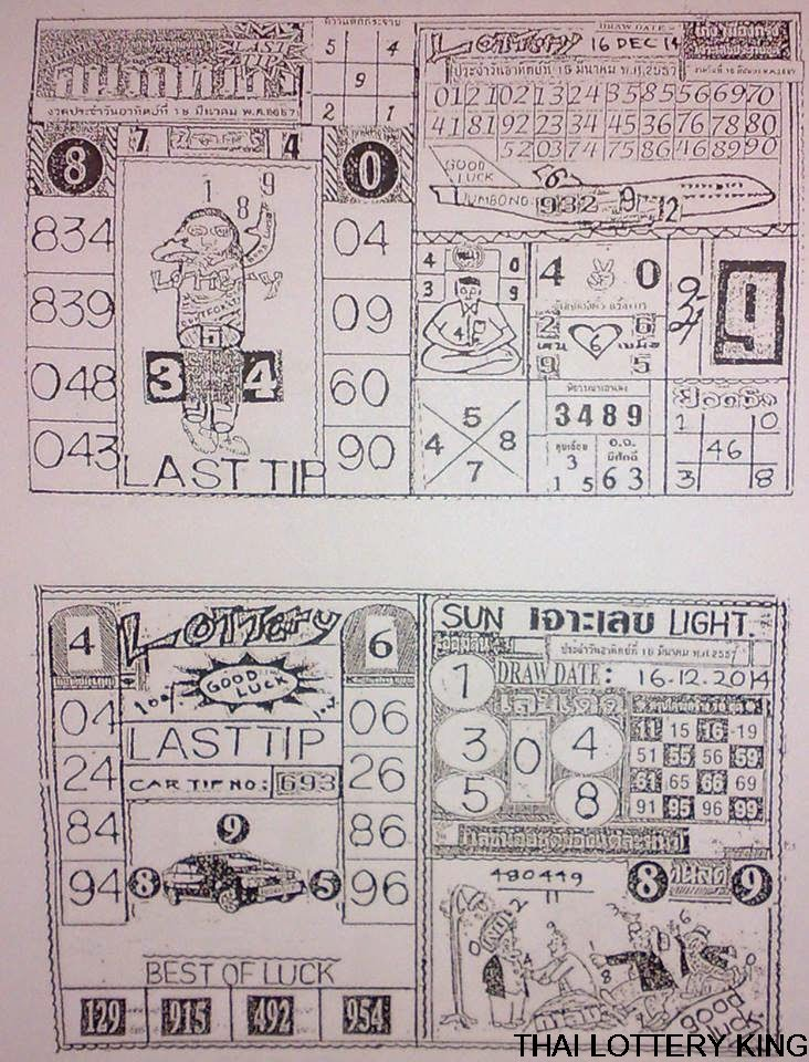 last tip thailand lottery