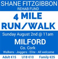 4 miler in Milford in N Cork...Sun 2nd Aug 2015