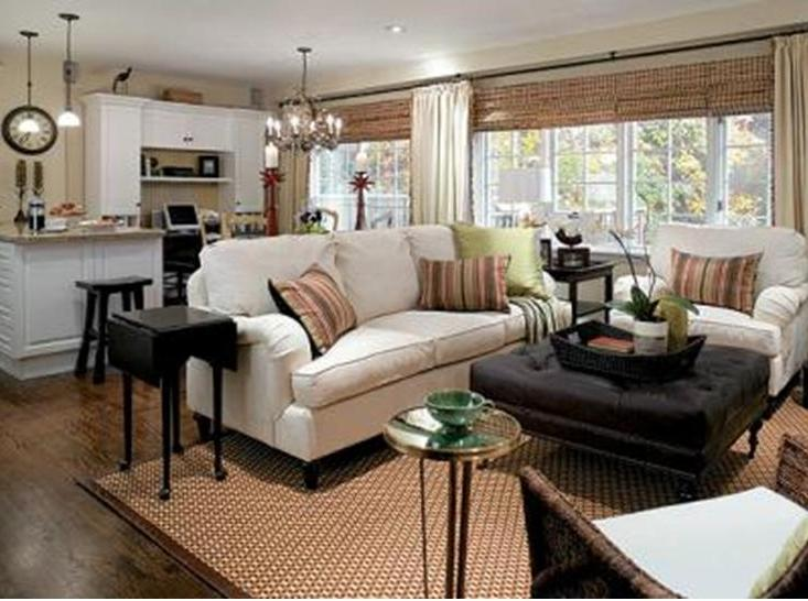 What inspired me for our family room for Casual curtain ideas for living room