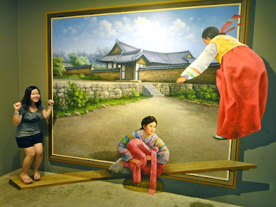 Hongdae Trick Eye Museum Interacting with Paintings