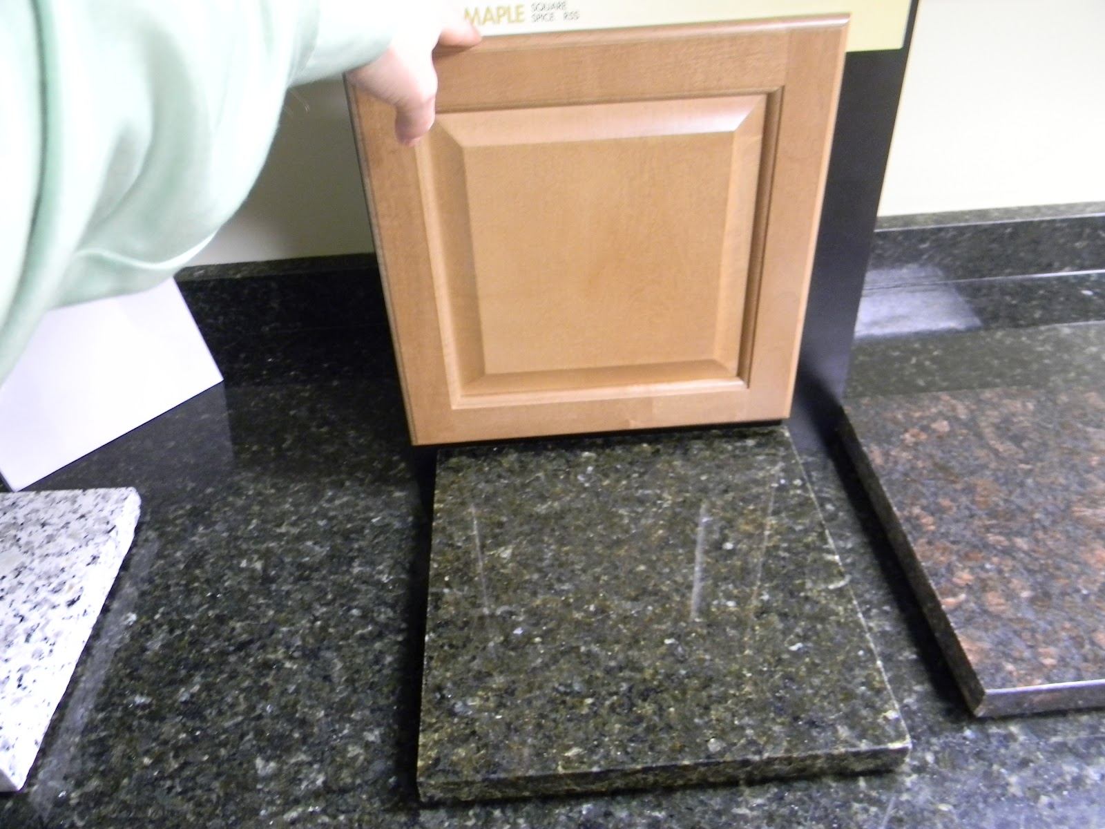 Uba Tuba Granite Countertops with Maple Cabinets
