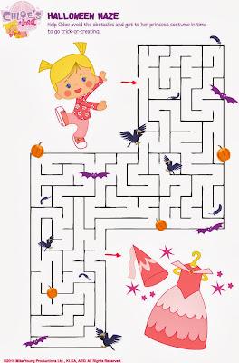 Halloween Maze printable - easy for kids 2