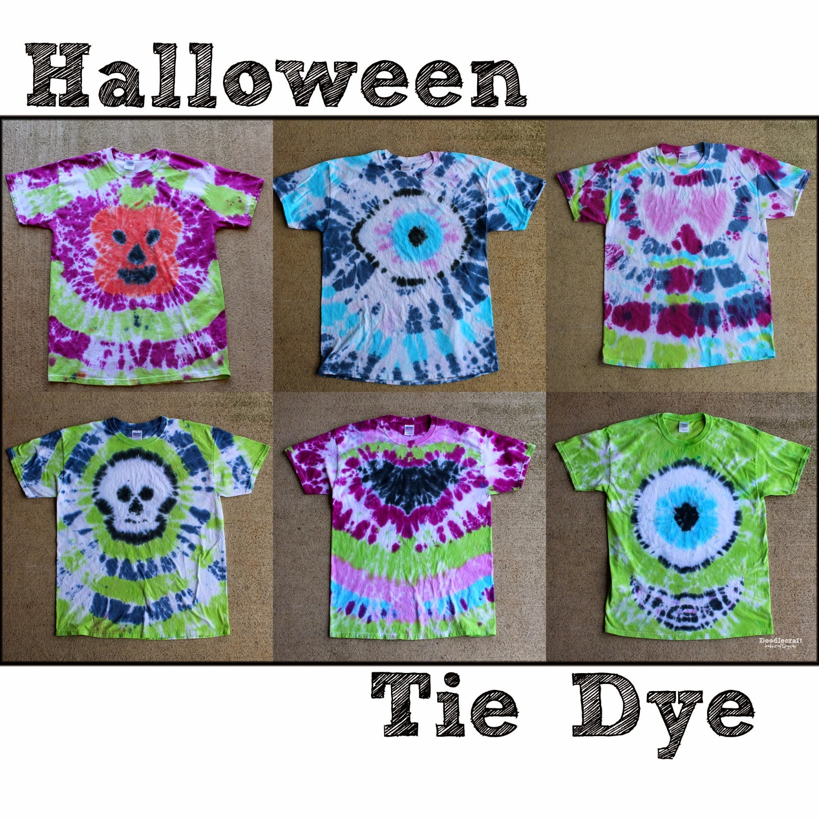 doodlecraft halloween tie dye party