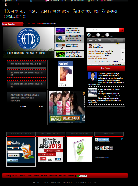Download Free Template Belajar SEO