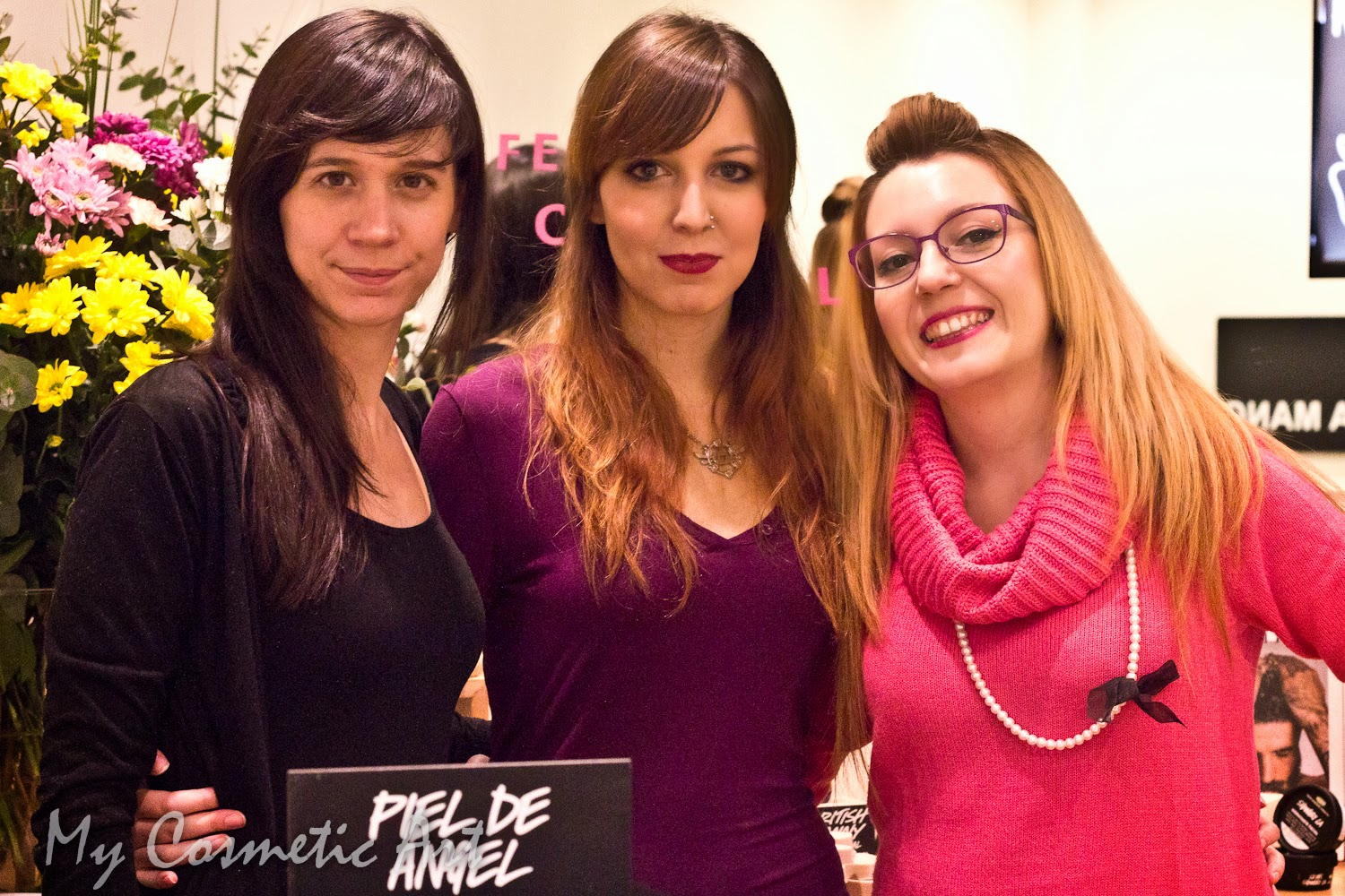 Taller de Lush: limpiadora Angels on Bare Skin