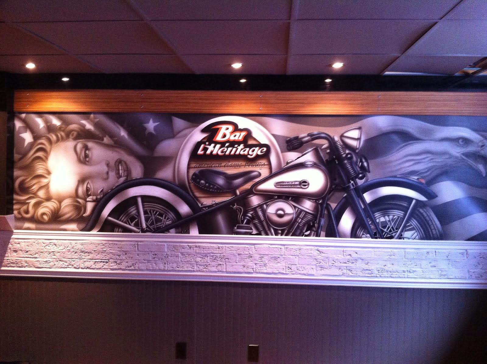 murale harley davidson