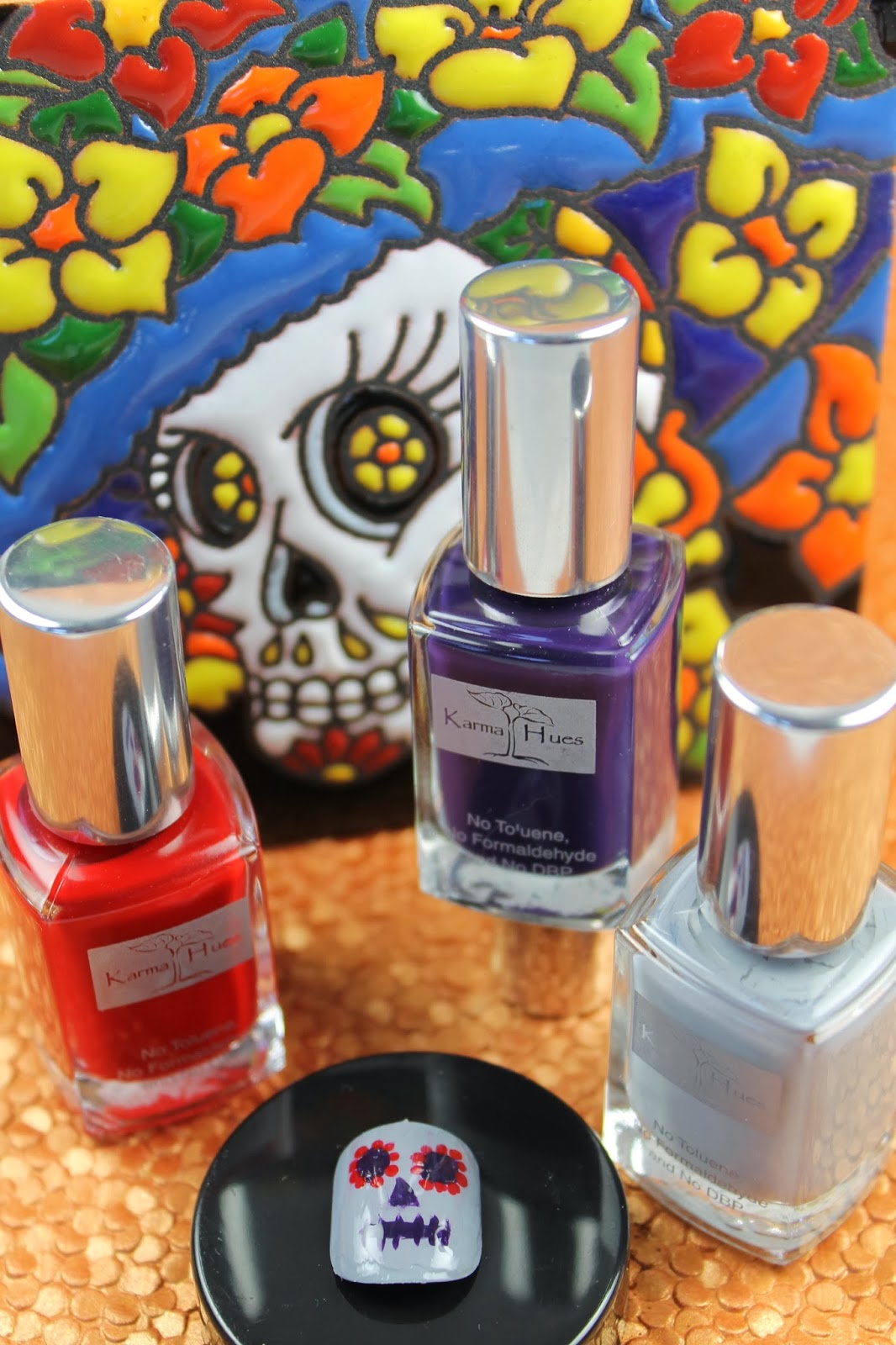Shine Beauty Beacon: Halloween Nail Art: To-Die-For Day of the Dead ...
